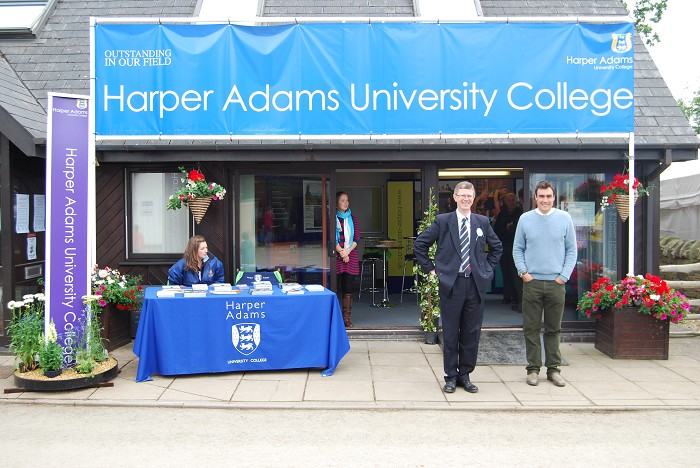 The Harper Adams trade stand at the Royal Welsh Show