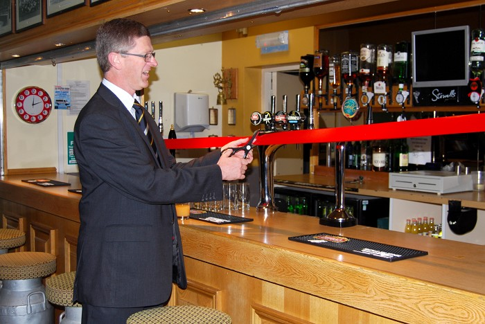 Principal, Dr David LLewellyn, officially opens The Welly Inn