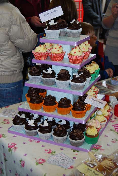 Cakes from Miss Friday Cup Cakes at the market