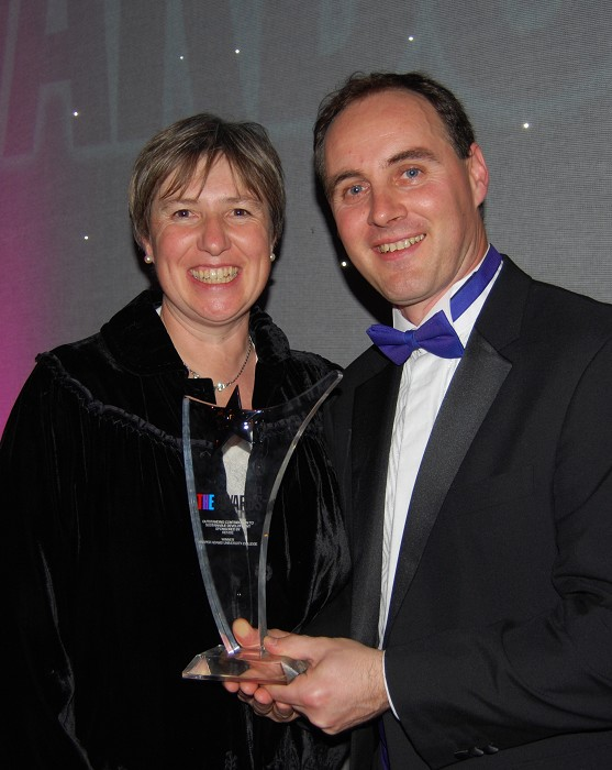 University College Secretary Dr Catherine Baxter with Estates Manager Paul Moran