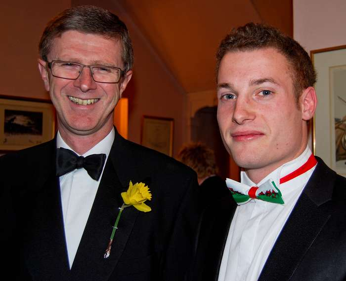 The Principal Dr David Llewellyn, with Matt Williams, outgoing committe chairman