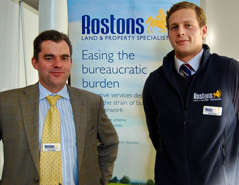 Harper graduate Sam Catling, Professional Assistant with Rostons Land and Property Specialists is pictured with Director of the company, Tony Rimmer