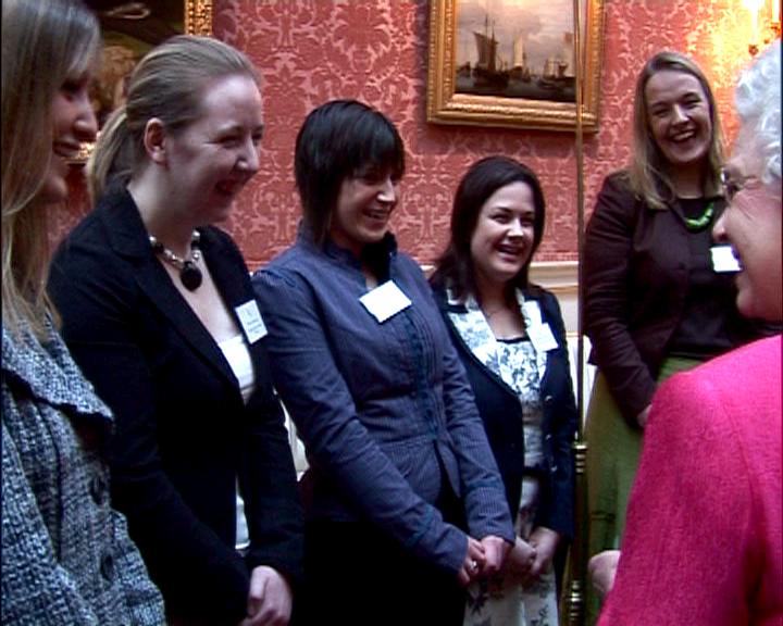 Students at the Buckingham Palace event