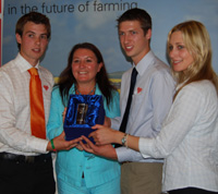 David, Jane King - Farmers Weekly, Daniel and Victoria With Their Award