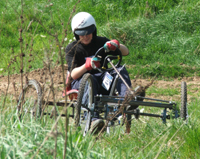 A Human-Powered Off-Road Machine in Action