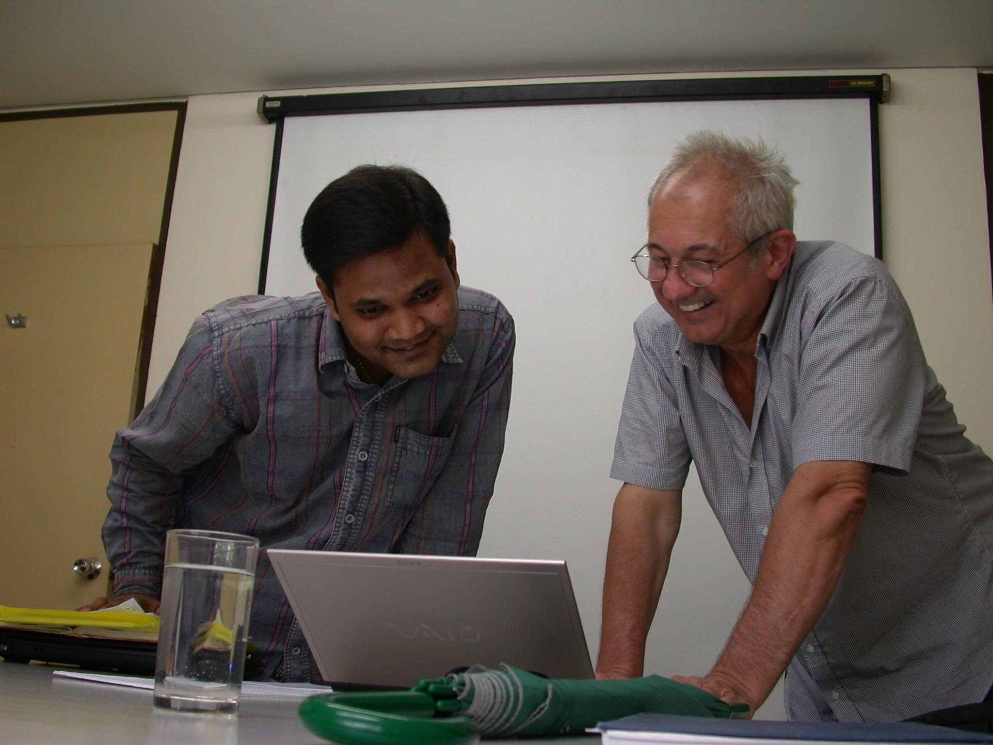 :    Discussion of collaborative MSc research projects with Dr Alex Keen and My Shivaji, AIT