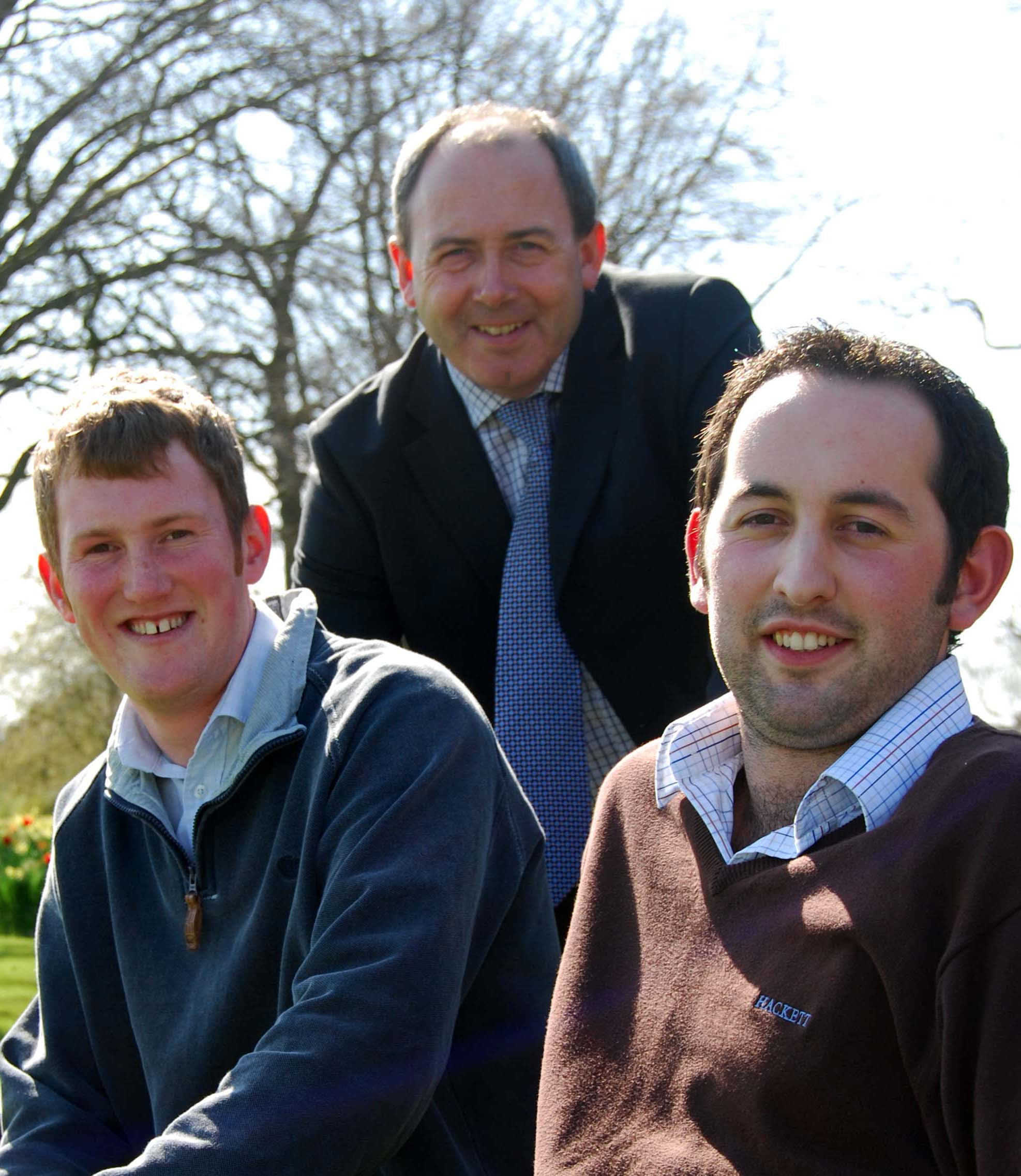 Left to right, Matthew Kingdon, Tony Asson and Adam Brown