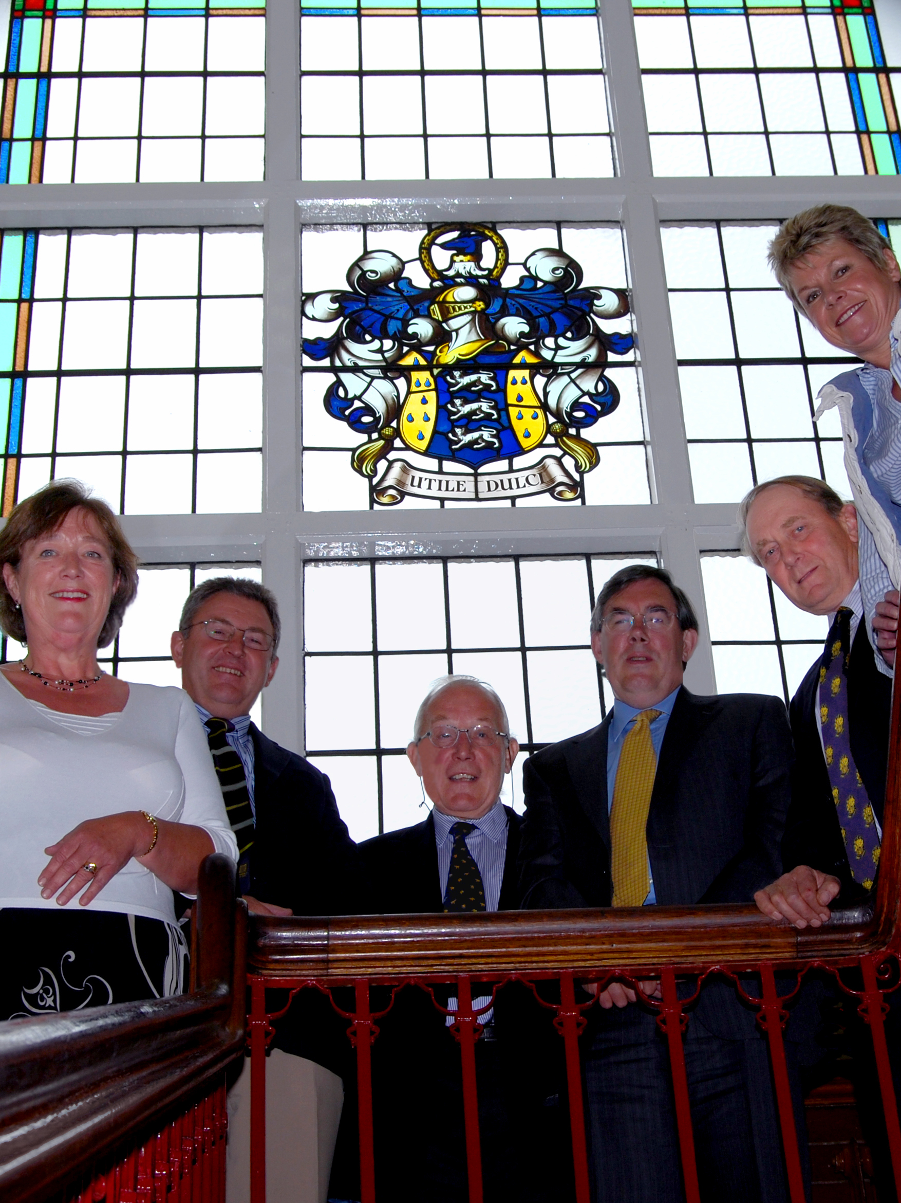 L-R Ros Barsley, Roger Mercer, Tony Burgess, Tim Brigstocke, Bill Madders and Jill Willows